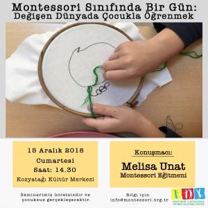 Montessori Sınıfında Bir Gün