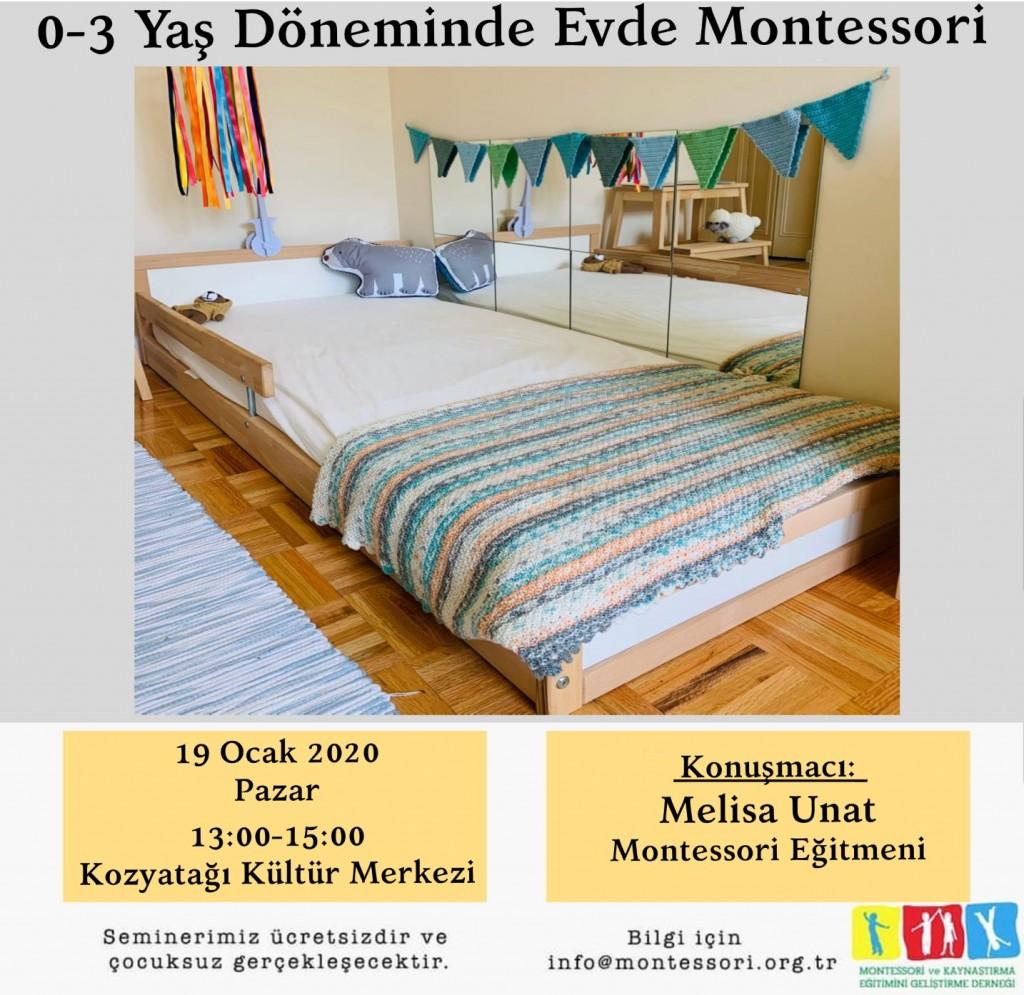 0-3 Yaş Döneminde Evde Montessori